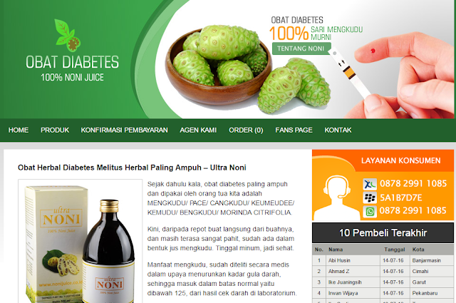 Jual Obat Diabetes Melitus Herbal Terpercaya