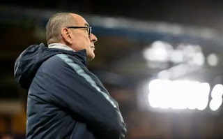 EPL: Sarri Reveals Those To Blame For Chelsea's 2-0 Defeat To Arsenal On Saturday Match