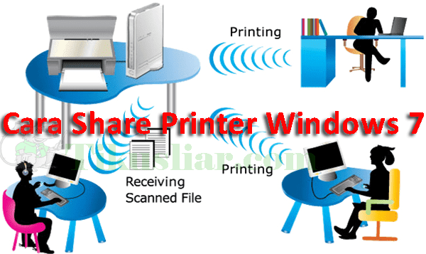 Cara Share Printer Windows 7