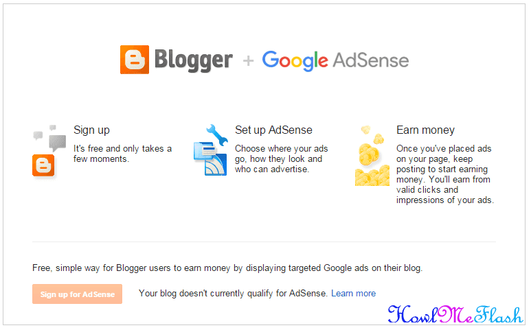 Your blog doesn't currently qualify for AdSense