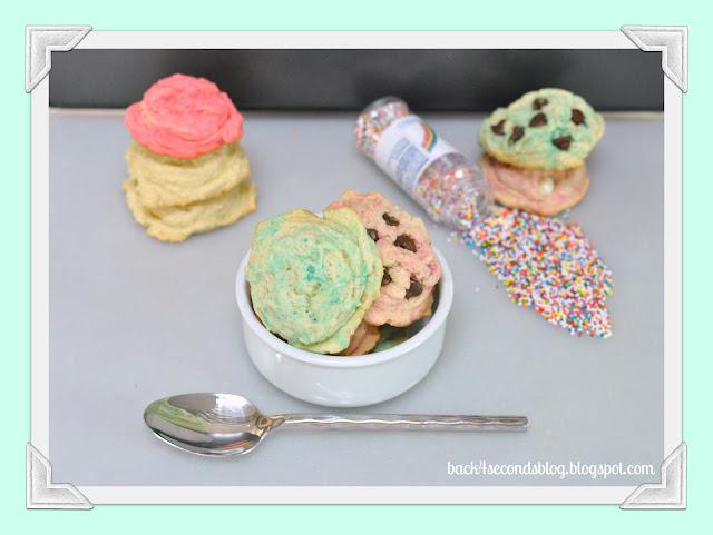 Ice Cream Scoop Cookies #cookies #icecream