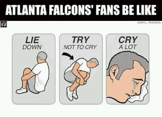 Atlanta Falcons' fans be like lie down, try not to cry, cry a lot