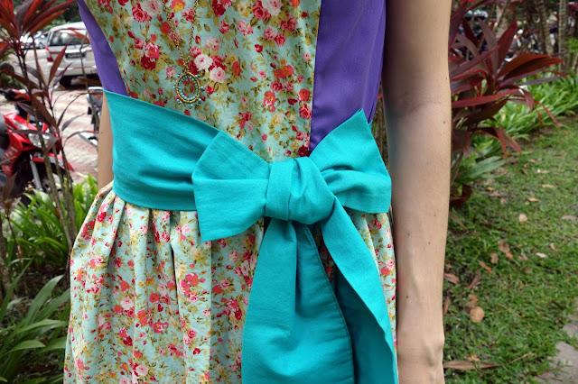 DIY Floral Dress