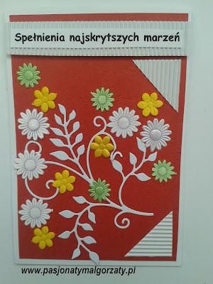 kartka imieninowa ręcznie robiona
