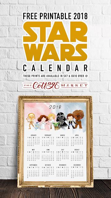 free 2018 star wars calendar