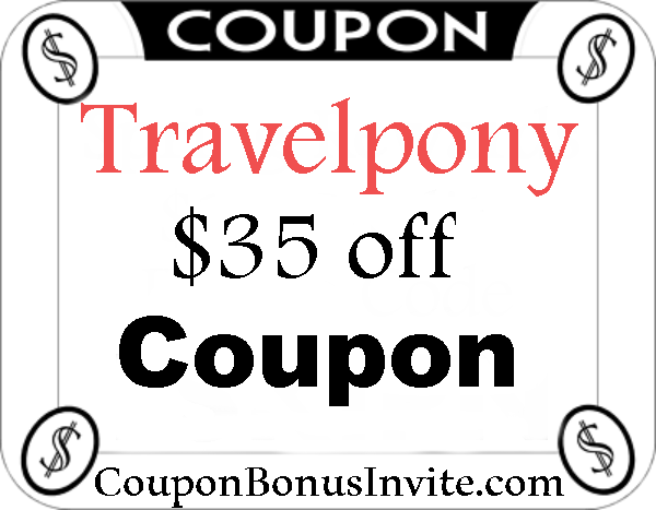 Travelpony.com Promo Codes 2016-2017, Travelpony Discount Code August, September, October