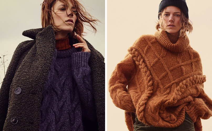 Freja Beha Erichsen stars in Zara 'Cozy Feeling' fall-winter 2018 lookbook