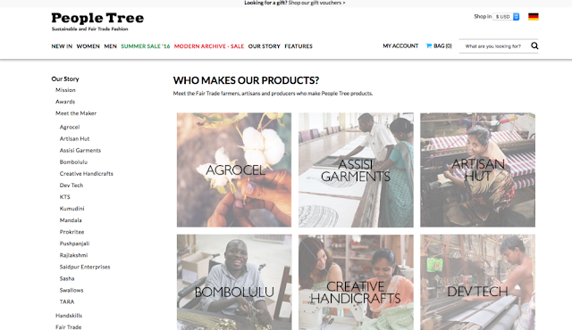 Who made the products of People Tree - fairtrade fashion