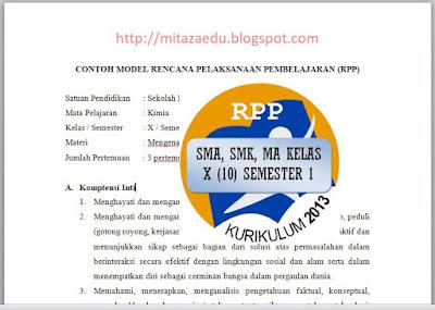 Download RPP K 13 Kimia SMA, SMK, MA Kelas X (10) Semester 1 Revisi 2017, http://mitazaedu.blogspot.com