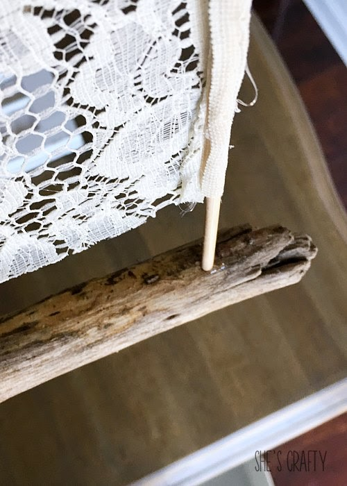 How to instructions for making a sailboat from driftwood and fabric