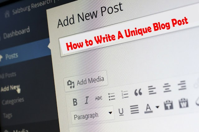 How to Write unique Articles on a blogger blog?