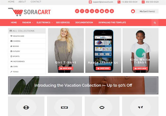 SoraCart Shopping Blogger Theme
