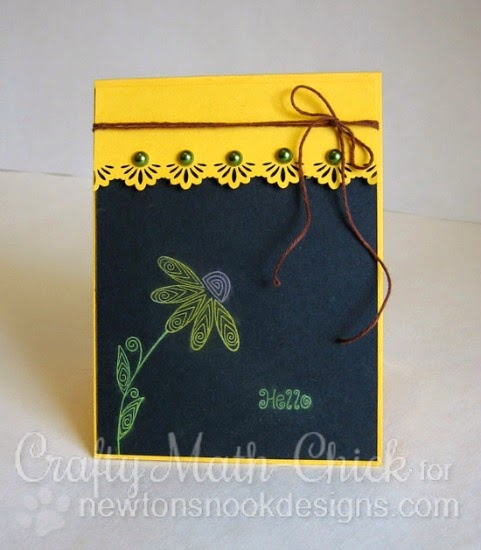 Chalkboard Flower Card by Crafty Math-Chick | Beautiful Blossoms stamp set by Newton's Nook Designs