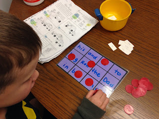 Letter or word review game for preschoolers