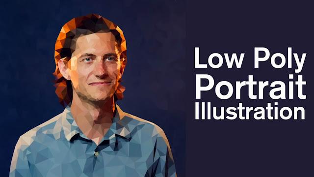 كورس  مجانى كامل عن  تعليم رسم Low Poly بورترية بالفوتوشوب والاليستريتور