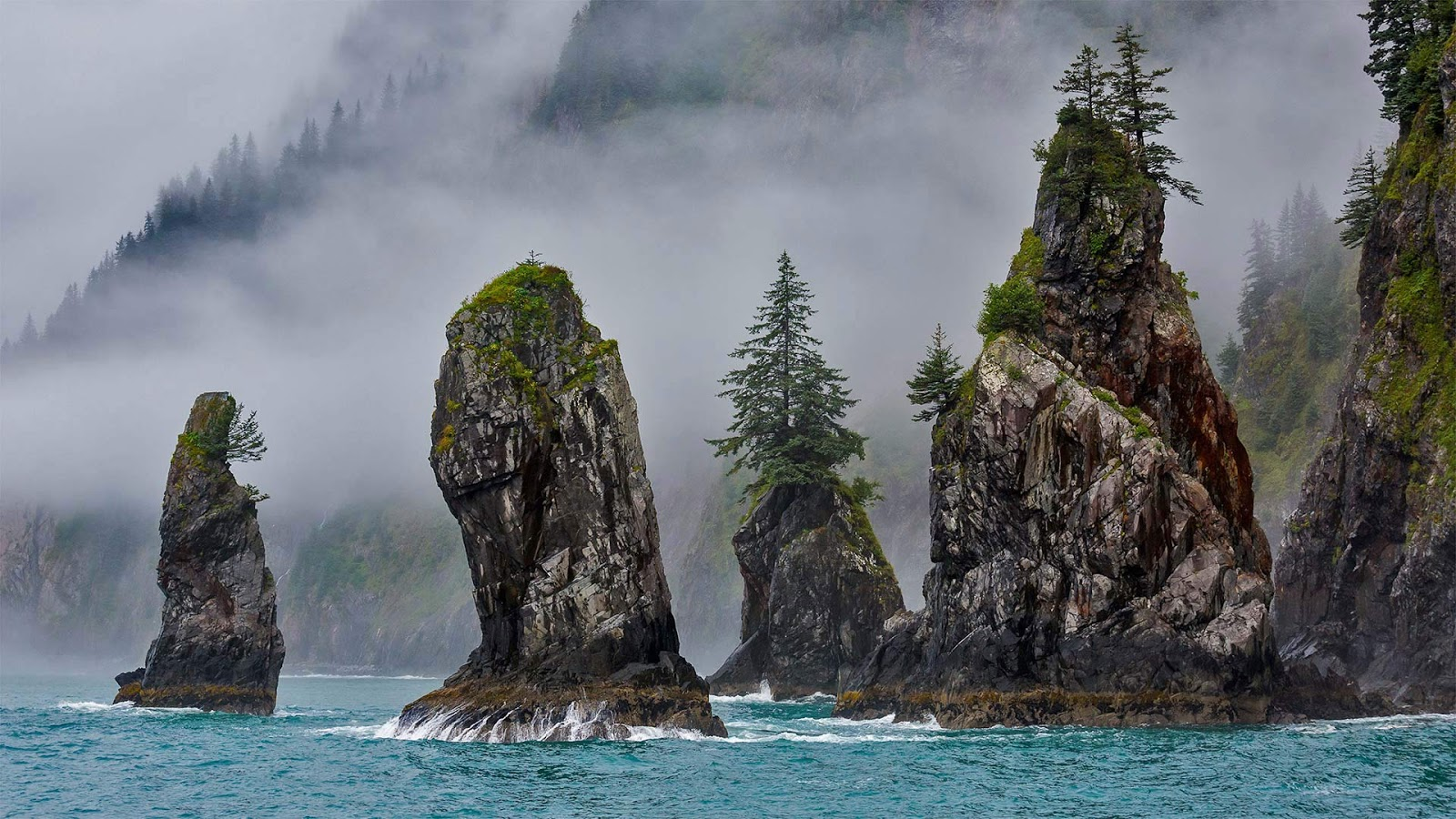 The Cove of Spires in Kenai Fjords National Park near Seward, Alaska © Grant Ordelheide/Tandem Stills + Motion