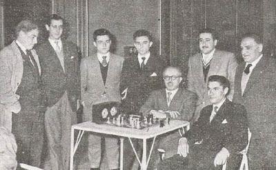 Ajedrecistas participantes en el Campeonato de Castilla de 1956