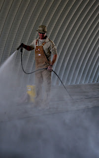 Curing of concrete,Spraying, Sprinkling or Fogging Method