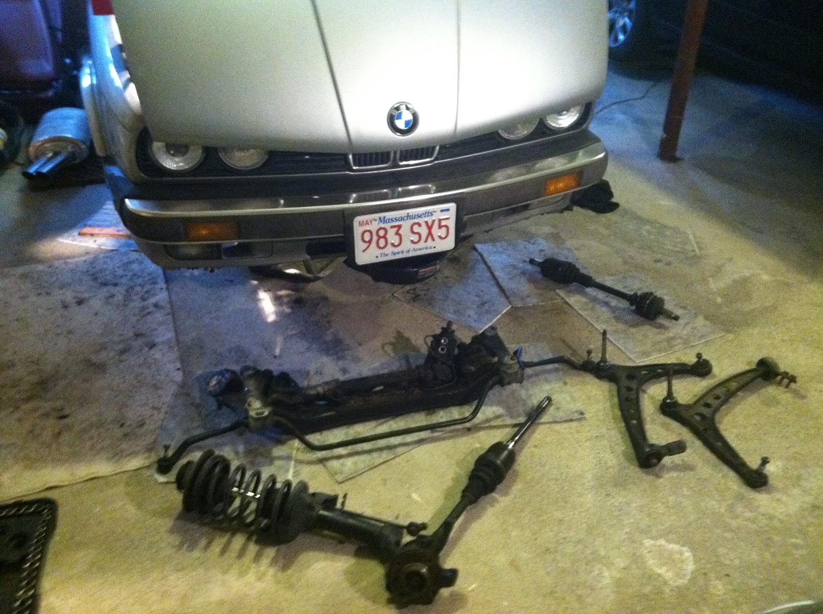 Front S & S part II - Subframe Removal   My BMW E30 IX