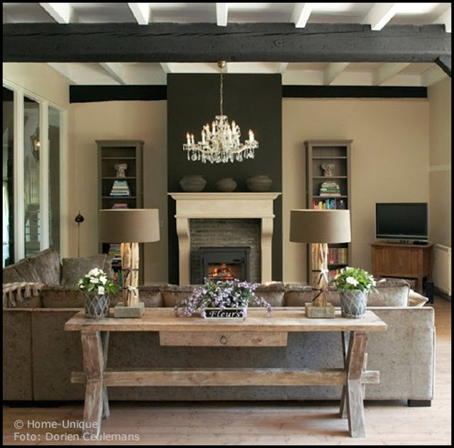 Modern Country Style: Belgian Style Interiors: Living Rooms