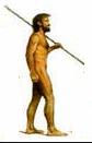 manusia purba dengan tombak