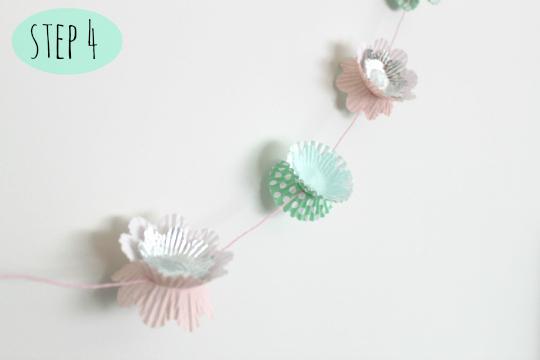 DIY cupcake liner garland tutorial