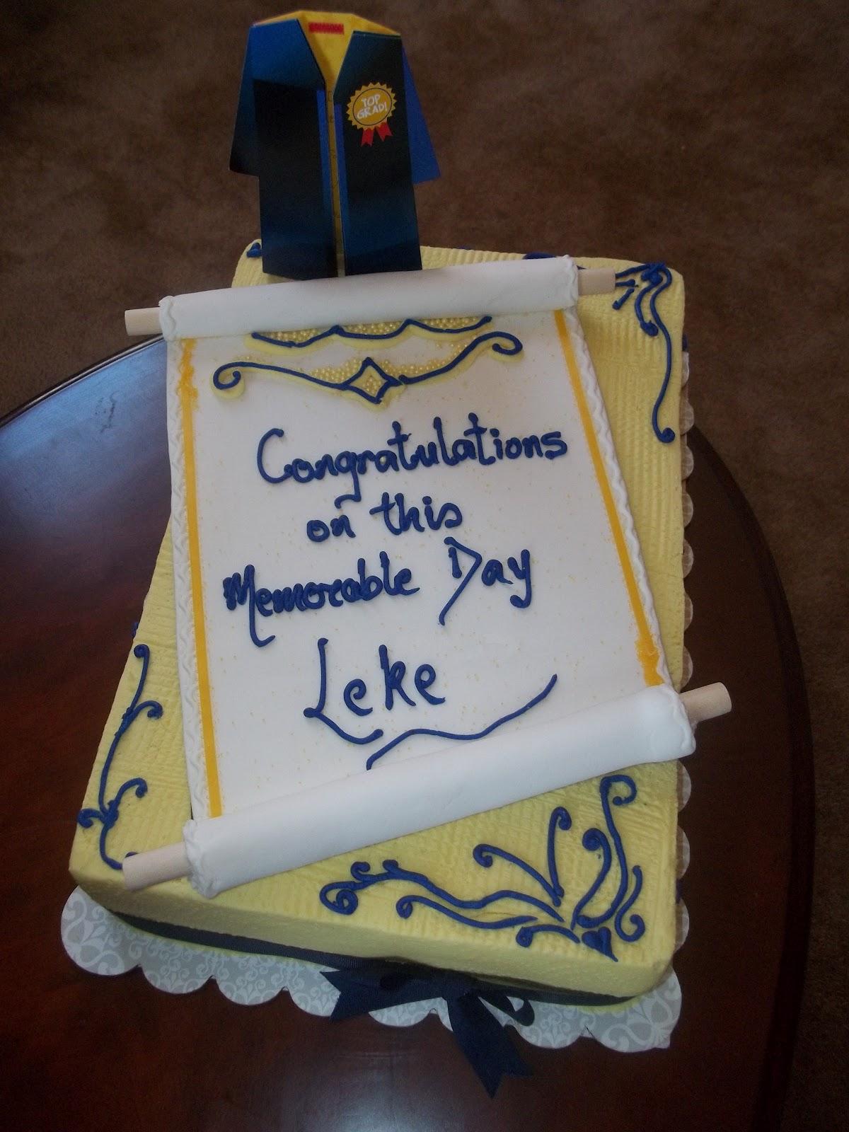 Amazing Cakes by Ade Graduation Cake
