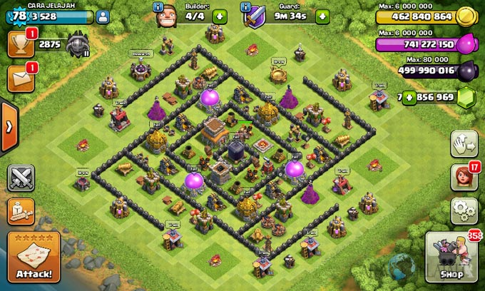Susunan Formasi Base War TH 8 Update Terbaru 18