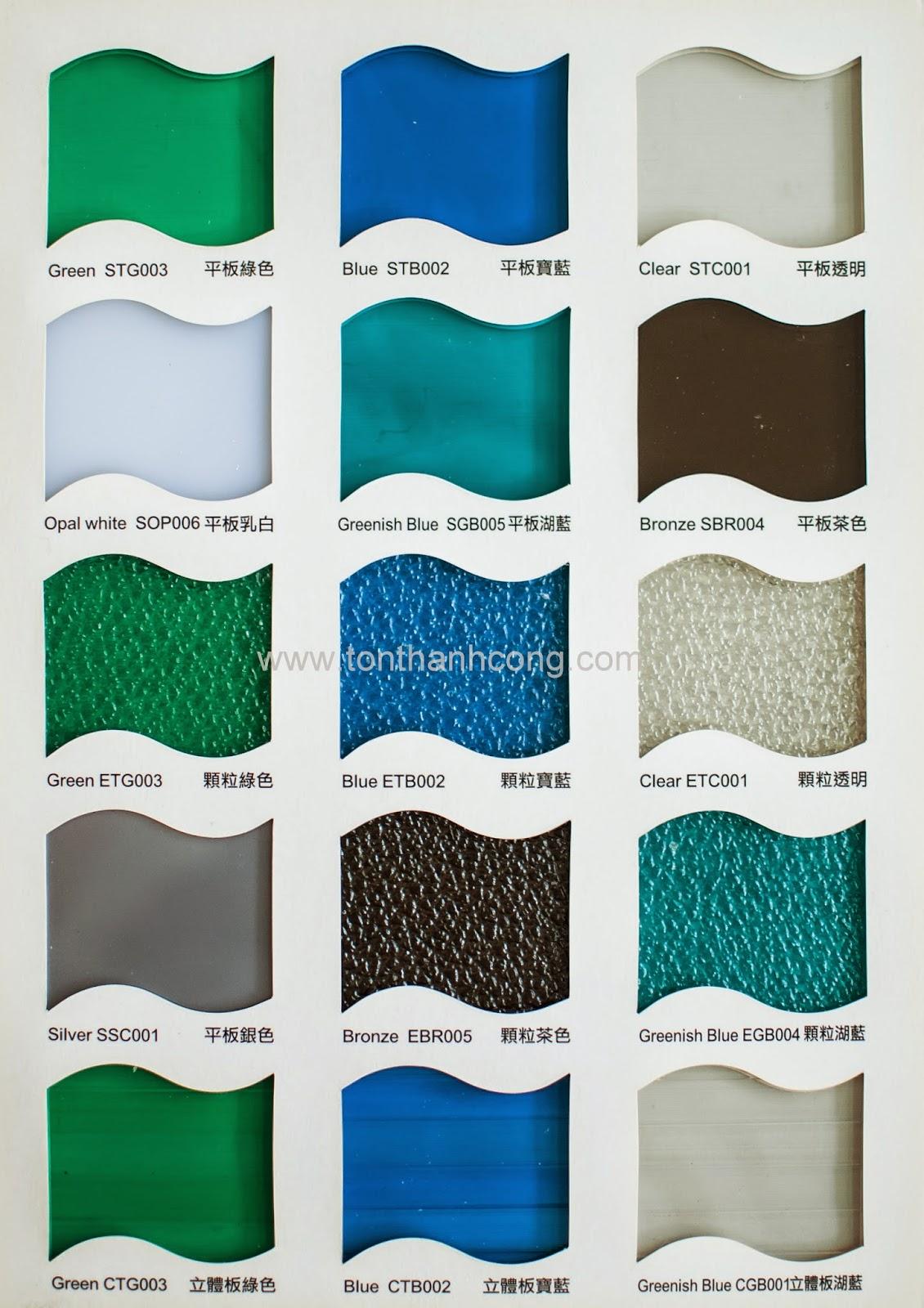 Catalogue Tấm Lấy Sáng Polycarbonate Đặc Ruột Tileron- Trang 2