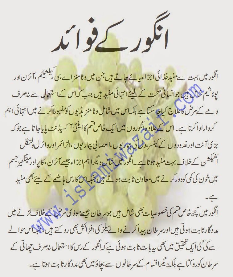 angoor ke fawaid in urdu