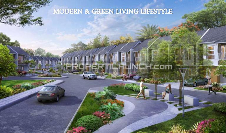 Lingkungan dalam cluster Avani Homes Summarecon Karawang