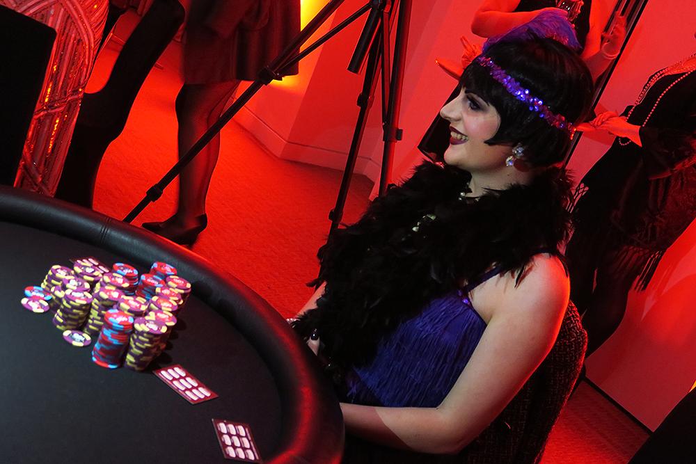 Bryony, the winner of the Ladbrokes Great Gatsby Casino Night - #HoldEm4Charity