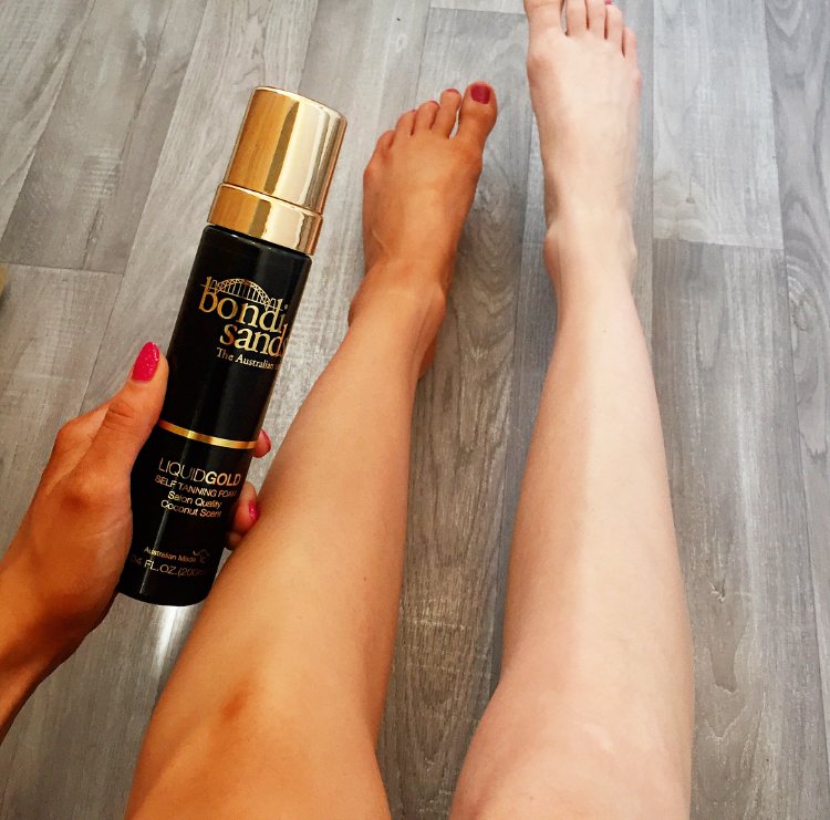 How to apply self tanner to legs and feet