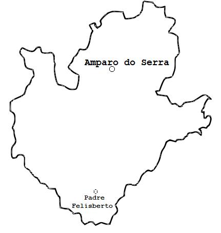blog de geografia mapa de amparo do serra mg para colorir