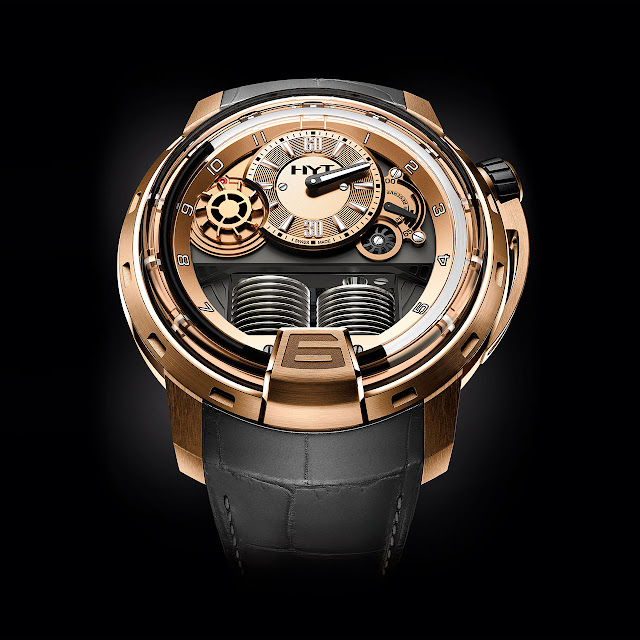 HYT H1 Full Gold Mechanical Hand-wound Watch
