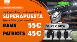 888sport superapuesta Rams vs Patriots superbowl 4-2-2019