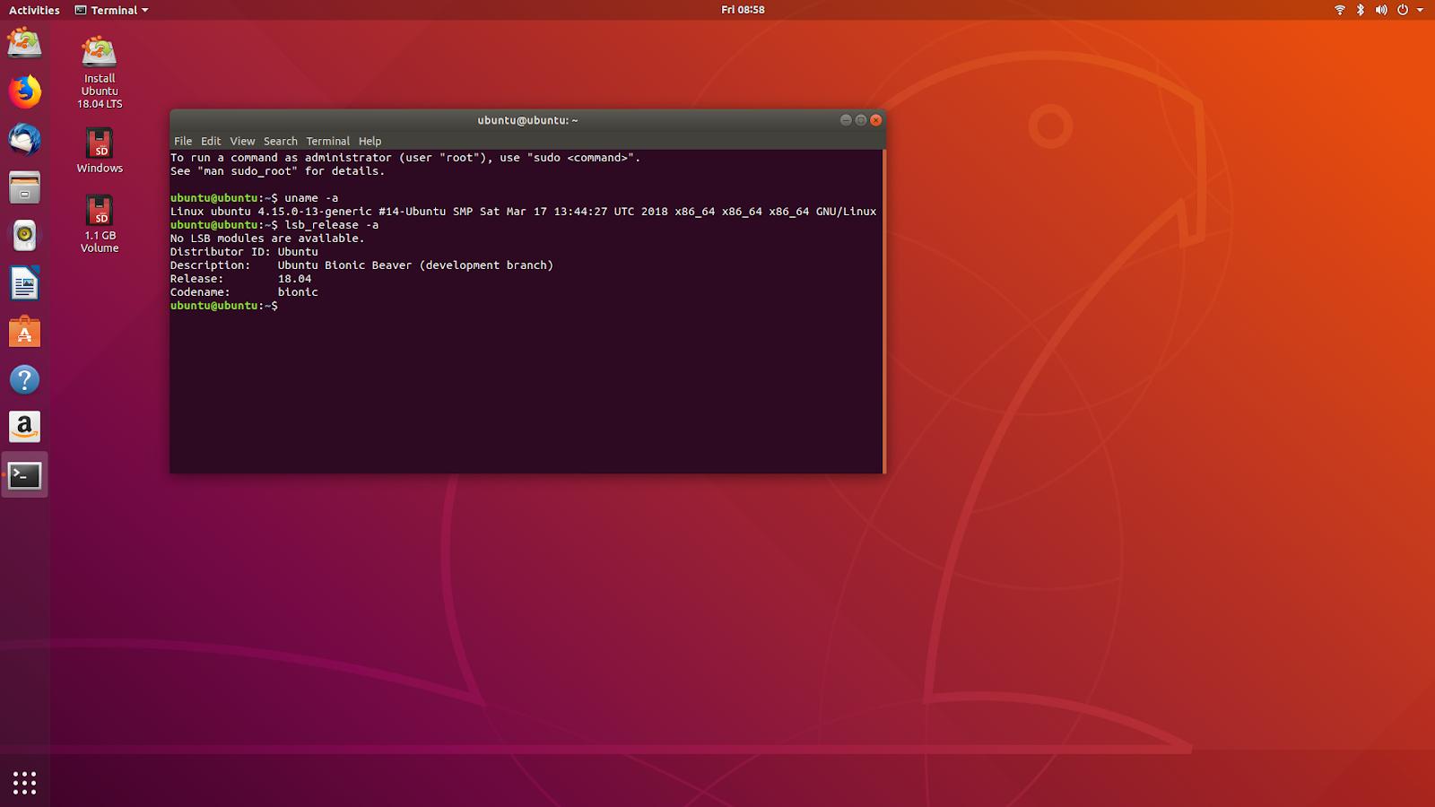 linuxium com au: Fourth look at Ubuntu 18 04 LTS (Bionic