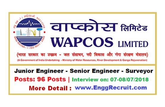 WAPCOS Recruitment 2018