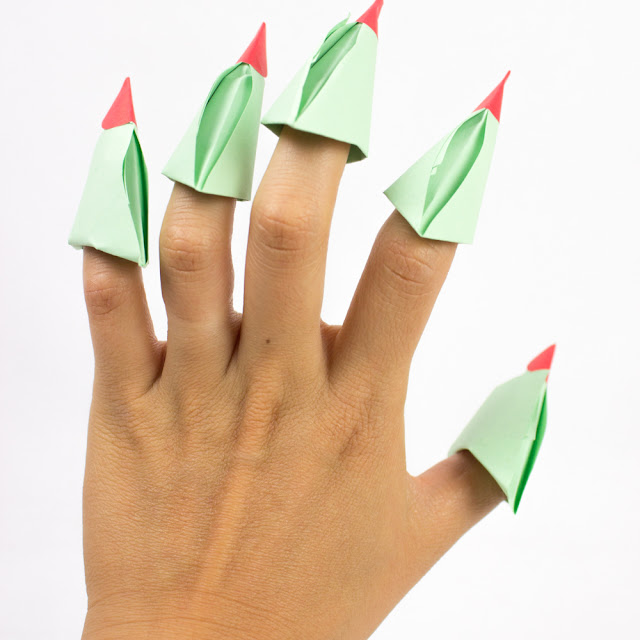 How to Fold Origami Witch's Claws- Fun Kids Origami Project for Halloween