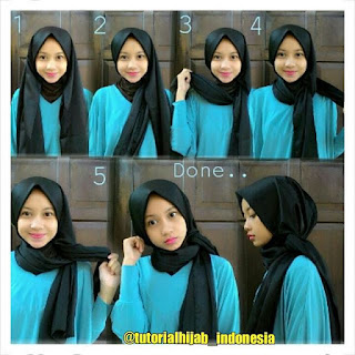 Tutorial Hijab Pashmina Satin Simple Model Terbaru 2017