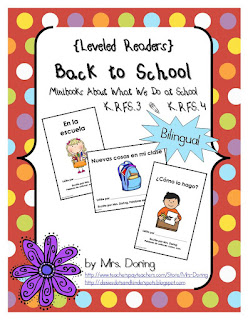 Back to School Minibooks by Mrs Doring on TeachersPayTeacher.com