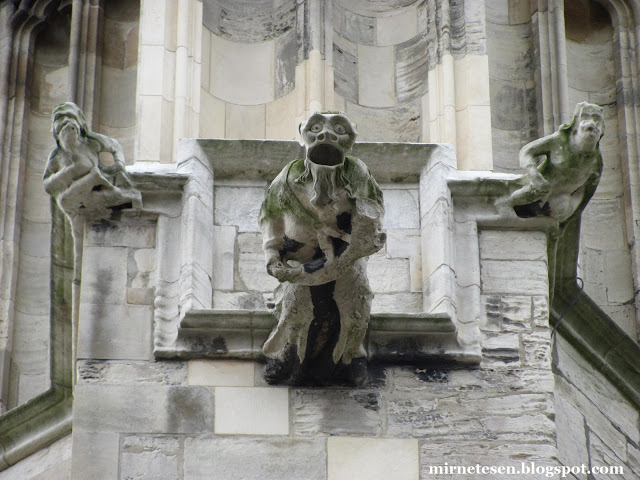 Йорк - гаргульи на Йоркском соборе