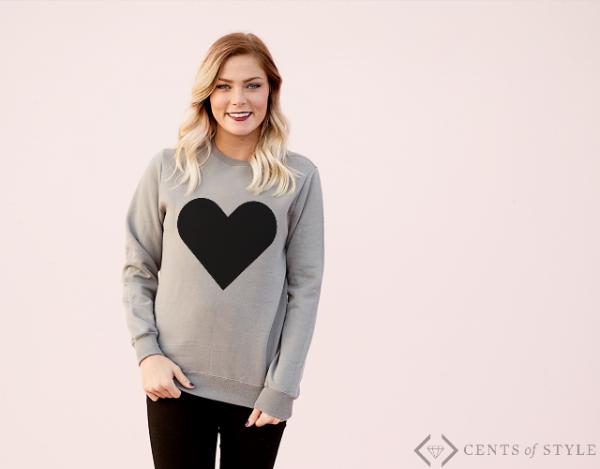 cute heart sweater