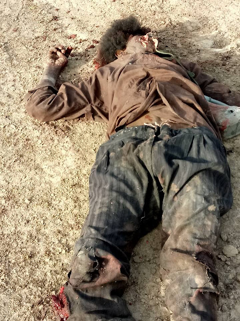 See What Security Operatives Did To Boko Haram Terrorists During Raid In Borno (Graphic Photos)