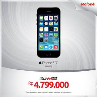 iPhone 5s Baru Harga Spesial Rp 4.799.000 di Erafone