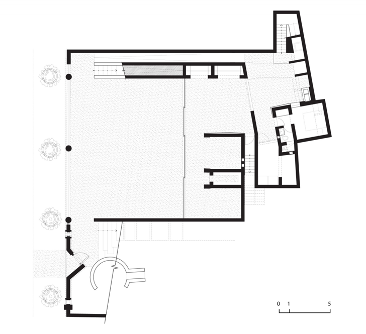 Basement floor plan of Extreme modern house by Longhi Architects