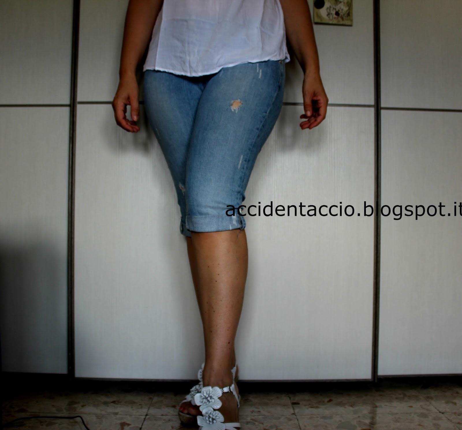 restyling jeans  da lunghi a corti 4a7592d1615