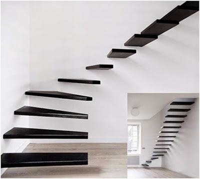 Biaya Renovasi Rumah - Contoh Renovasi Tangga dan Ruang Keluarga Minimalis