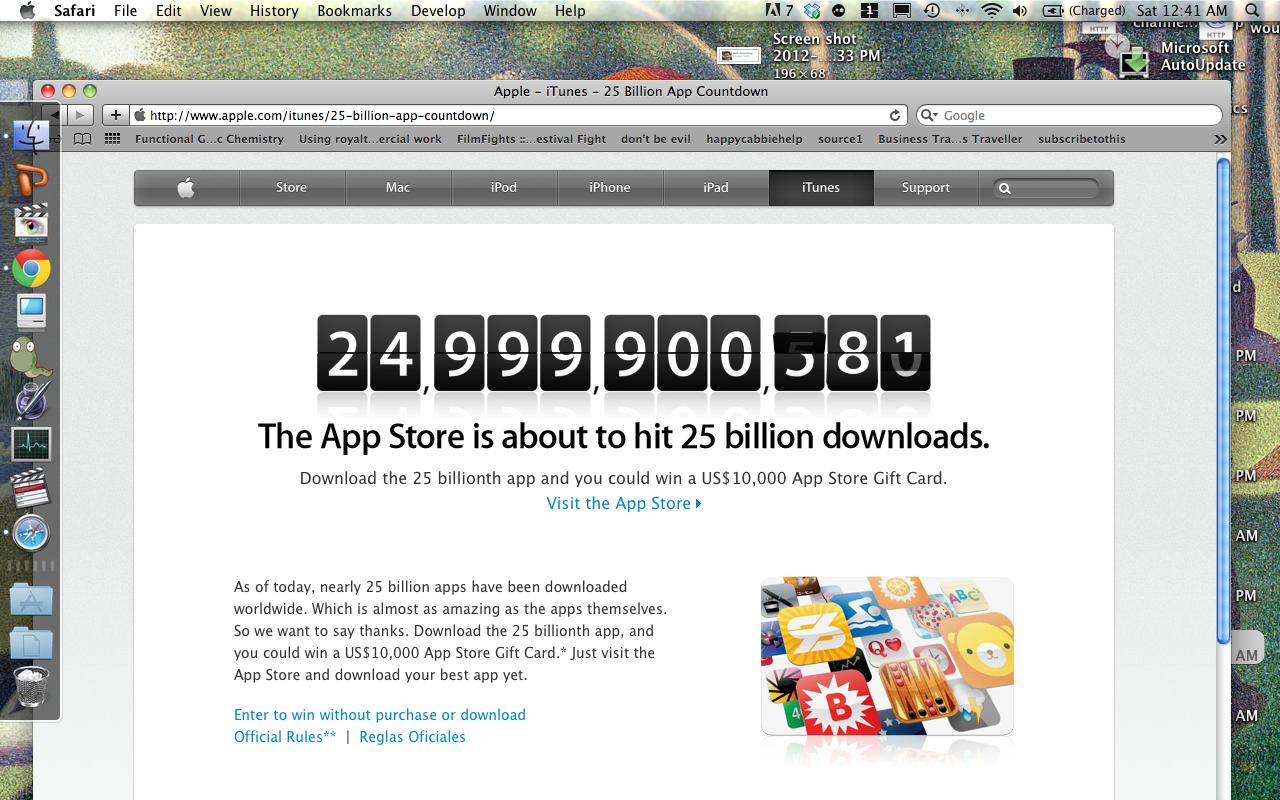 Apple's App Store Reaches 25 Billion App Downloads!