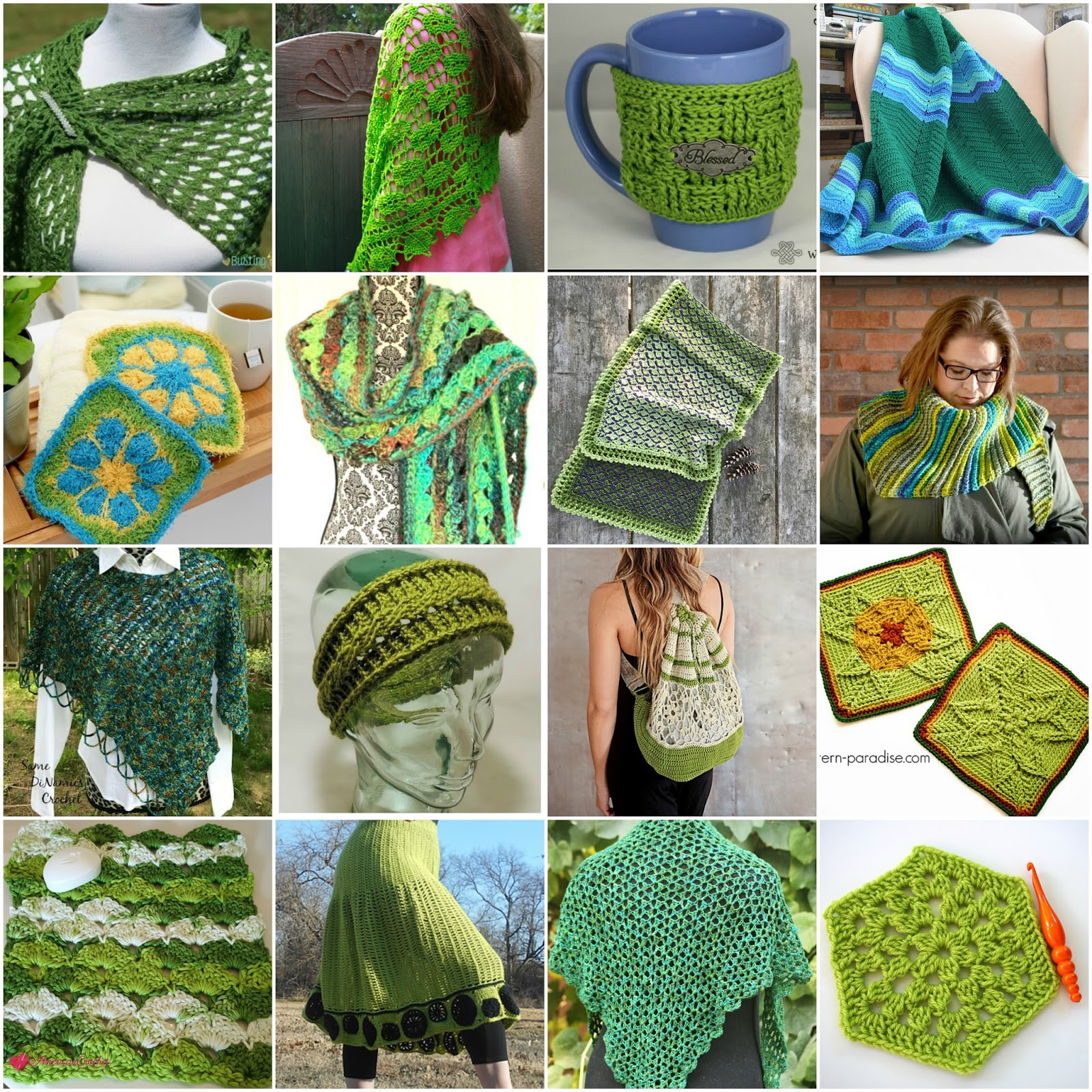 CGOA Now!: 16 (Mostly Free) Crochet Patterns in Spring Green